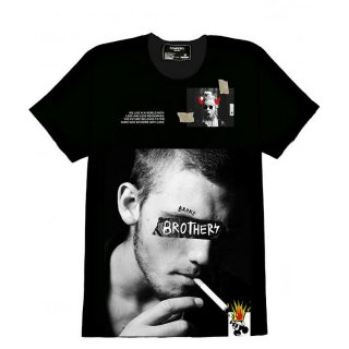 Dom Rebel(ドム レベル) スモーク オリジナル デザイン プリント 半袖 Tシャツ