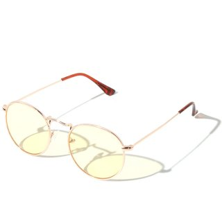 ADVANCE(アドバンス)ラウンド タイプ ゴールドフレーム サングラス メガネ