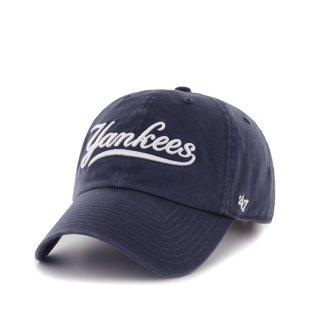 47brand(フォーティセブン ブランド) ニュートーク ヤンキース  '47 クリーン アップ 6パネル ストラップバックキャップ