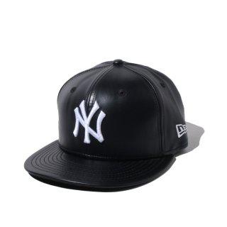 NEW ERA(ニューエラ) PU レザー ニューヨークヤンキース フィフティナインフィフティー ベースボールキャップ