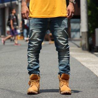 Nudie Jeans(ヌーディージーンズ) タイトロングジョーン パシフィック ブルー デニムパンツ
