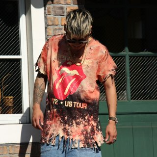 UNSZND(アンシーズンド) ザ ローリング ストーンズ  ロゴ デザイン 半袖 Tシャツ