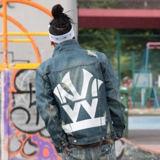 W NYC(ダブルエヌワイシー) ヘリテイジロゴ デニムジャケット
