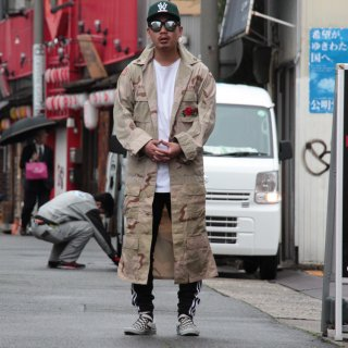 re:new(リニュー) ロング アーミー コート ジャケット【j】