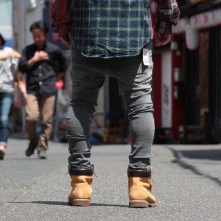 Nudie Jeans(ヌーディージーンズ) スキニーリン バック トゥー グレー デニムパンツ