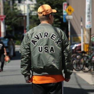 AVIREX(アヴィレックス) フライトジャケット・エムエーワン コマーシャル・ボンバージャケット ロゴ