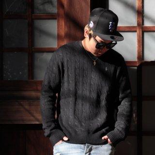POLO RALPH LAUREN(ポロ ラルフローレン) ケーブル ニット コットン セーター<br>Cable knit cotton sweater