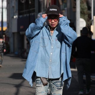 re:new(リニュー)リーバイス ヴィンテージ リメイク ワイド&ビック デニム シャツ<br>re:new Levi's Vintage Remake Big&Wide Shirts 【e】