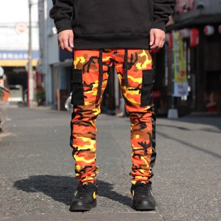 ETERNITY BC/AD(エタニティー) 迷彩柄 カモ カーゴ パンツ<br>ETERNITY BC/AD STRAPPED CARGO PANTS