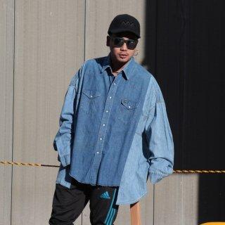 re:new(リニュー)ラングラー ヴィンテージ リメイク ワイド&ビック デニム シャツ<br>re:new Wrangler Vintage Remake Big&Wide Shirts 【3】