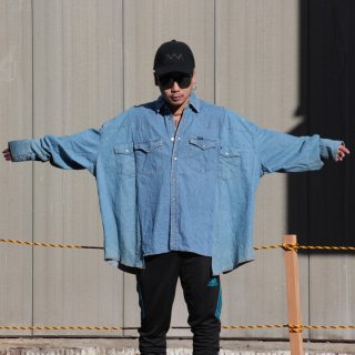re:new(リニュー)リー ヴィンテージ リメイク ワイド&ビック デニム シャツ<br>re:new Lee Vintage Remake Big&Wide Shirts 【12】