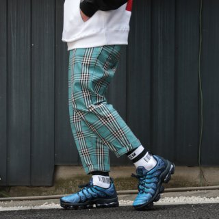 W NYC(ダブルエヌワイシー) CHECK CROPPED + TAPERED FIT PANTS<br>チェック クロップド + テーパード パンツ
