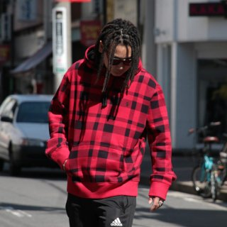 POLO RALPH LAUREN (ポロ・ラルフローレン) チェック総柄 プルオーバー パーカー<br>POLO RALPH LAUREN PLAID PULLOVER PARKA