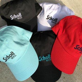 SCHOTT(ショット) コットン ツイル ベーシックキャップ<br>SCHOTT COTTON TWILL CAP BASIC LOGO