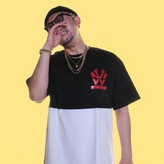 W NYC(ダブルエヌワイシー)バイカラー ヘリテイジロゴ 半袖 Tシャツ<br>W NYC HERITAGE LOGO BICOLOR S/S TEE