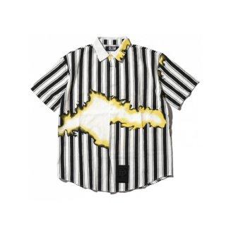 DLSM(ディーエルエスエム) ストライプ グラフィック 半袖シャツ