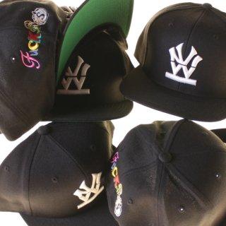 W NYC(ダブルエヌワイシー) ファック エスエヌエス 刺繍 キャップ<br>W NYC FUCK SNS LOGO SNAPBACK CAP