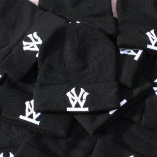 W NYC(ダブルエヌワイシー) ヘリテイジロゴ 刺繍 ニットキャップ ビーニー <br>W NYC HERITAGE LOGO KNIT CAP