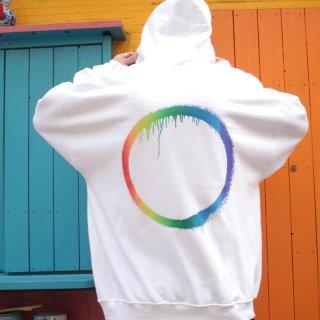 ファーストサンプル レインボー サークル ロゴ フーディー プルオーバー パーカー<br>FIRST SAMPLE RAINBOW CIRCLE LOGO HOODIE