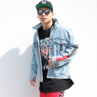 Barney Cools(バーニー クールズ) リジッド デニム ジャケット<br>Barney Cools B.Rigid Denim Jacket Embo Blue Stone
