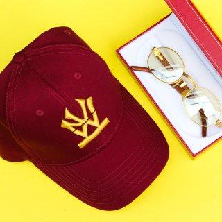 W NYC(ダブルエヌワイシー) ヘリテイジロゴ ブランドカラー 刺繍 ストラップバック キャップ<br>W NYC HERITAGE LOGO BRAND COLOR STRAPBACK CAP