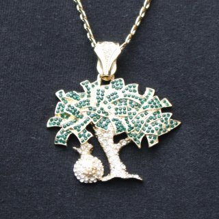 JULY 29(ジュライ トゥエンティー ナイン)マネーツリー トップ ゴールド チェーン ネックレス<br>JULY 29 Money tree TOP GOLD CHAIN NECKLACE