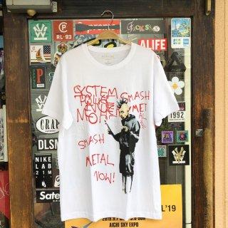 ELEVEN PARIS(イレブン パリ) BANKSY GRAFFITI S/S TEE<br>バンクシー グラフィック プリント 半袖 Tシャツ