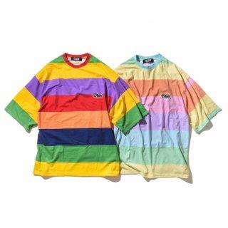 DLSM(ディーエルエスエム) NY スモールロゴ ビッグ ボーダー Tシャツ
