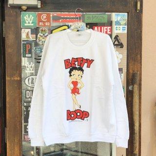 ベティー ブープ プリント デザイン クルーネック スウェット<br>Betty Boop CREWNECK SWEAT