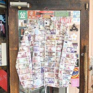 デイリーペーパー マネープリント コーチジャケット<br>Daily Paper Printed Money Foach Jacket