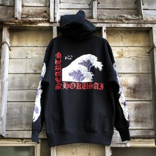 #12 LONELY論理 北斎 パーカー <br>#12 LONELY論理 HOKUSAI HEARTS HOODIE