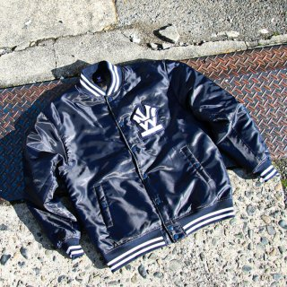 ダブルエヌワイシー ヘリテージロゴ サテン バーシティ ジャケット<br>W NYC HERITAGE LOGO SATIN VARSITY JACKET