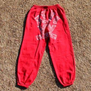 W NYC PAISLEY LOGO SWEAT PANTS<br>ダブルエヌワイシー ライン トラック パンツ
