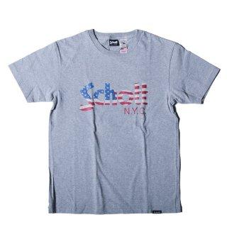 ショット US フラッグ ロゴ 半袖 Tシャツ<br>SCHOTT US FLAG LOGO S/S TEE