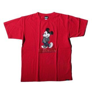 ショット×ディズニー ブルックリン ロゴ 半袖 Tシャツ<br>SCHOTT×DISNEY BROOKLYN LOGO S/S TEE