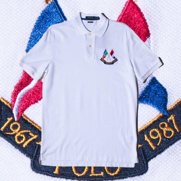 POLO RALPH LAUREN(ポロ ラルフローレン) クロスフラッグ 半袖 ポロシャツ<br>POLO RALPH LAUREN CROSS FLAG LOGO S/S POLO SHIRTS