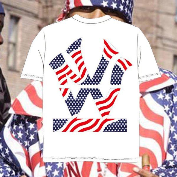 ダブルエヌワイシー ヘリテージ ロゴ 星条旗 半袖 Tシャツ<br>W NYC HERITAGE LOGO STARS AND STRIPES  S/S TEE-
