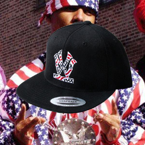 ダブルエヌワイシー ヘリテージ ロゴ 星条旗 スナップバック キャップ<br>W NYC HERITAGE LOGO STARS AND STRIPES  SNAPBACK CAP