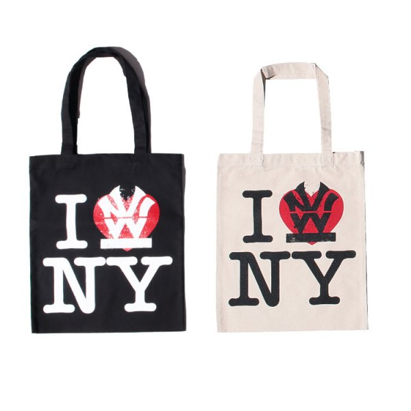 W NYC I LOVE NY LOGO TOTE BAG