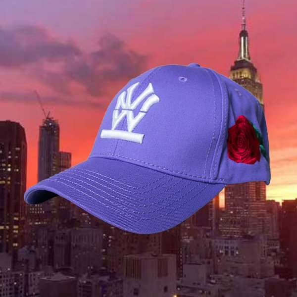 "W NYC HERITAGE LOGO ""ROSE"" STRAPBACK CAP<br>ダブルエヌワイシー ヘリテージ ロゴ ""ローズ"" ストラップバック キャップ"