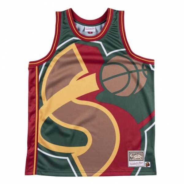 MITCHELL&NESS  BIG FACE JERSEY SEATTLE SUPER SONICS