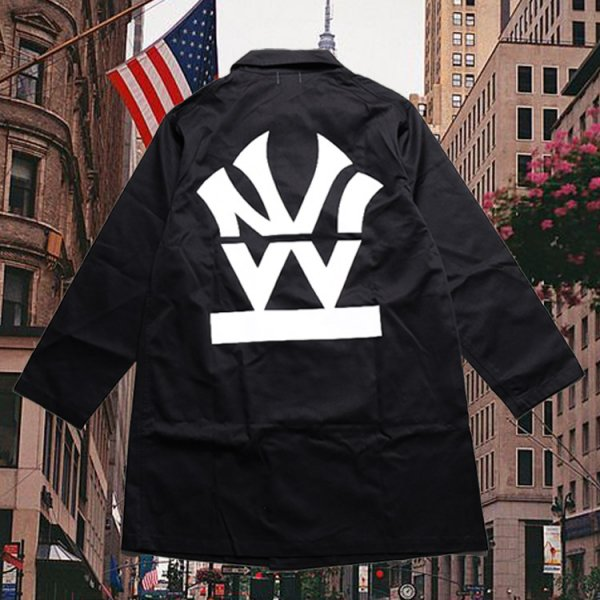 W NYC HERITAGE LOGO DUSTER COAT