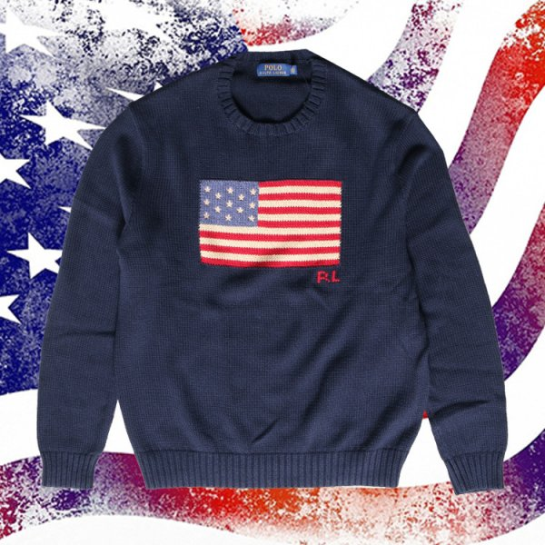 POLO RALPH LAUREN US FLAG COTTON KNIT