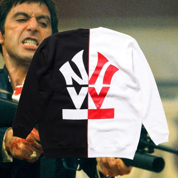W NYC HERITAGE LOGO SCARFACE CREWNECK SWEAT