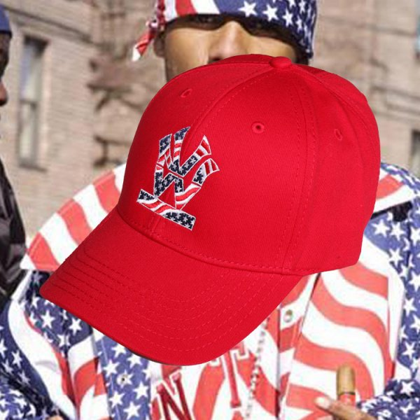W NYC HERITAGE LOGO STARS AND STRIPES STRAPBACK CAP