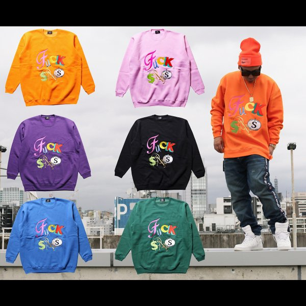 W NYC FUCK SNS CREWNECK SWEAT ※限定50枚