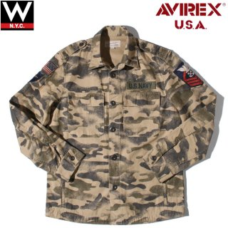 AVIREX(アヴィレックス) ネーヴァル パッチ シャツ