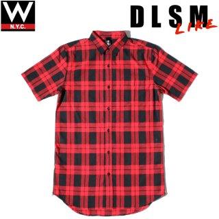 DLSM(ディーエルエスエム) ウェアー イズ マルタン ブロック チェック ロング丈 半袖 シャツ