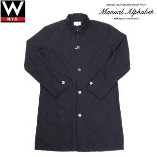 Manual Alphabet(マニュアル アルファベット) ロングコットン シャツ ジャケット