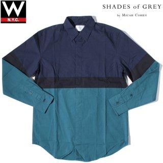 SHADES OF GREY(シェーズ オブ グレイ) バイカラー 長袖 シャツ